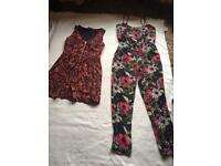 2 Items ladies bundle size 10 Overall & Dress Used £5