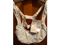 Brand new, with tags white Shock Absorber sports bra