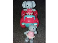ELC Pink Car including Cat & Elephant - Now Being sold as ELC Rosie Rabbit and Her Motor Car