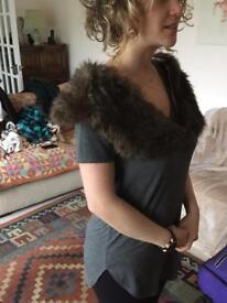 Faux Fur wrap (brown)