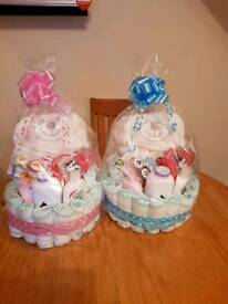 BOY OR GIRL NAPPY CAKES BABY SHOWER GIFT