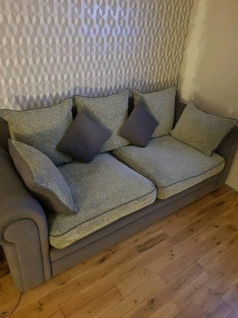 Needs to go fast 3 seater sofa 2 seater and pouffe