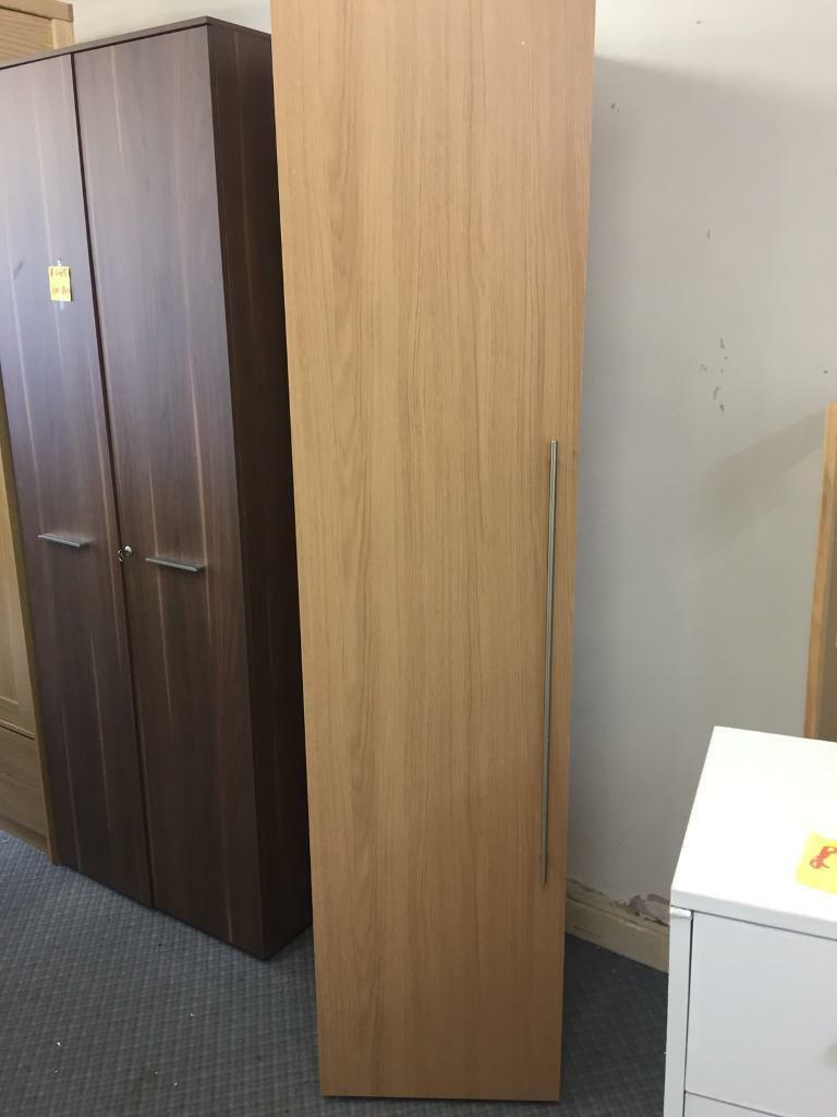 Hygena Atlas 1 Door Tall Wardrobe - Oak Effect
