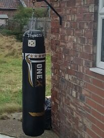 Large punch bag with hanging bracket