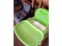 Baby booster seats (2 varieties)