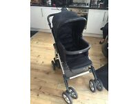 Silver cross pram includes Cosey toes and umbrella. Hardly used a few scratches to frame.