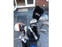 Full set of Dunlop golf clubs
