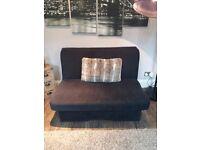 Fabric sofa bed black needs 1 lat fixing underneath