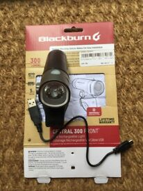 Rechargeable Blackburn front light. 300 lumens
