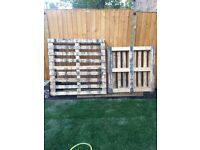 New wooden pallets x 3