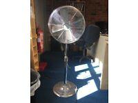"Chrome Pedestal 3 Speed 16"" Fan Adjustable Height £25"