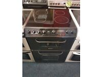 CREDA 60CM CEROMIC TOP ELECTRIC COOKER. R