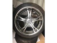 "Jap drift track 18"" alloys tyres JZ split Honda S2000 etc"