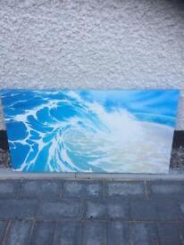 Wave art canvas