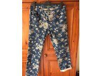 Ralph Lauren floral jeans