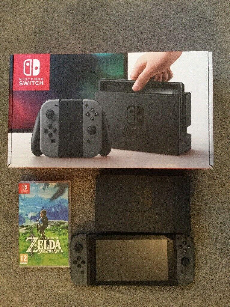 Nintendo Switch 32GB (grey) and Zelda breath of the wild
