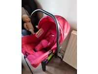Baby car seat brand new ,mam sterliser and bottle . Pink and purple stroller