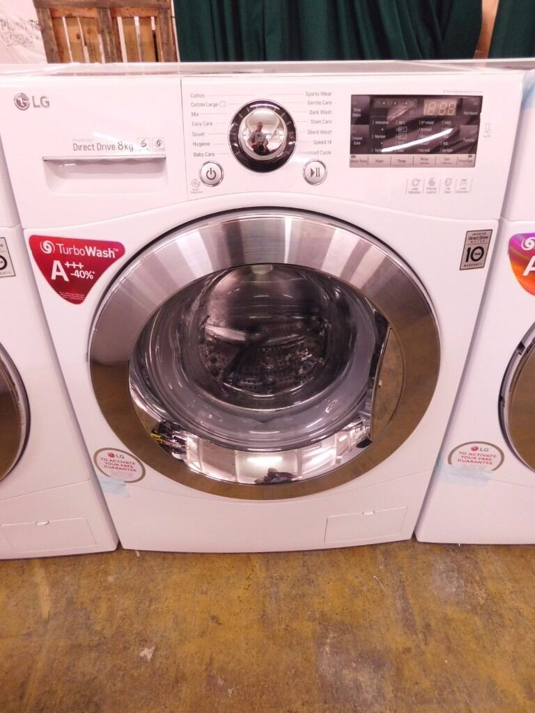 lg direct drive 8kg a turbo wash 1400rpm spin washing machine rrp 499 in hyde manchester. Black Bedroom Furniture Sets. Home Design Ideas