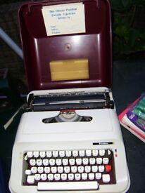 Portable typewriter with case, good working order