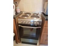 Stainless steel indesit freestanding cooker