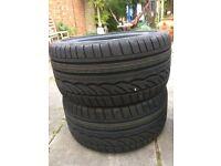 2 X DUNLOP Tyres - 275/35/R18 - Run Flat. BARGAIN half RRP