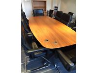 2.2 meter boardroom table in cherry