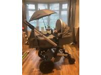 JOOLZ Day Earth Pram System Immaculate elephant grey £1000+