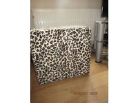 Lovely Animal Print Seat/Storage box In New Condition