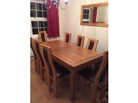 Real Oak Extendable Dining Table & Chairs