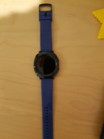 Blue Samsung gear sports watch