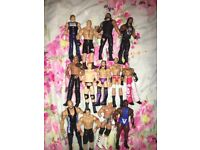 Bundle of 13 wrestling figures all like new but not boxed from smoke and pet free house