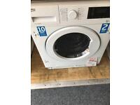 Beko integrated washer dryer new 12 mth gtee