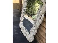 French style carved hall mirror