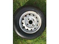 Hankook 880 steel radial tyre on steel wheel 4.5 x 12 (brand new / unused)