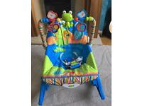 Fisher Price vibrating baby bouncer rocker chair newborn to toddler.