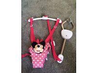 Minnie Mouse Door Bouncer Jumper! 4-12Months! Disney! As New!