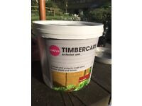 5 litre tub of Band Q fence paint - red cedar - timbercare FREE!