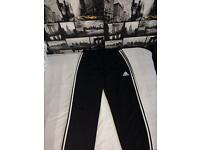 Adidas fleece joggies new size M