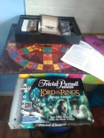 Lord of the rings trilogy edition trivial pursuit dvd game