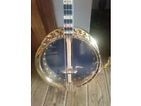 Tenor banjo ,Bacon made by gretch custom gold plated tenor banjo.