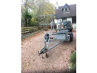 Galvanised canoe/kayak trailer 2 brand new axles