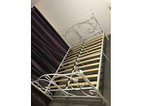 SOLD - Double bed frame (no mattress)