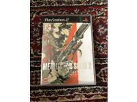 Play Station 2 PS2 Metal Gear Solid 2 Sons of liberty
