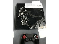 STARWARS LIMITED EDITION PS4 CONSOLE - 1TB - USED- BLACK