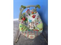 Fisher price woodlands baby bouncer