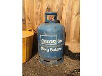 Calor Gas Butane bottle. 15kg. Full gas bottle.