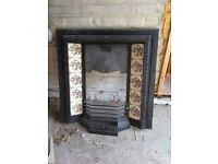 Cast iron fireplace, marble harth, fireplace surround