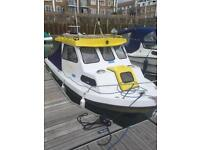 Icelander 18 fishing boat hull & trailer only