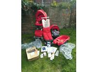 Stokke xplory bundle in red many extras
