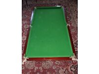 (6) six x (3) feet original, Mahogany Antique E J Riley, Slate bed snooker table
